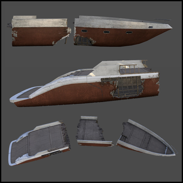 Broken Ship - 3DOcean Item for Sale
