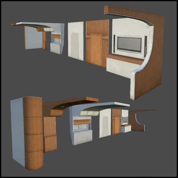 Yacht Interior Set - 3DOcean Item for Sale