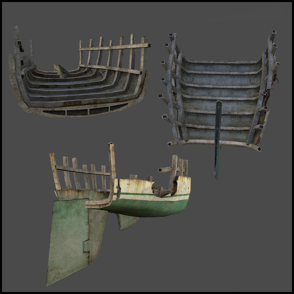 Derelict Ship - 3DOcean Item for Sale