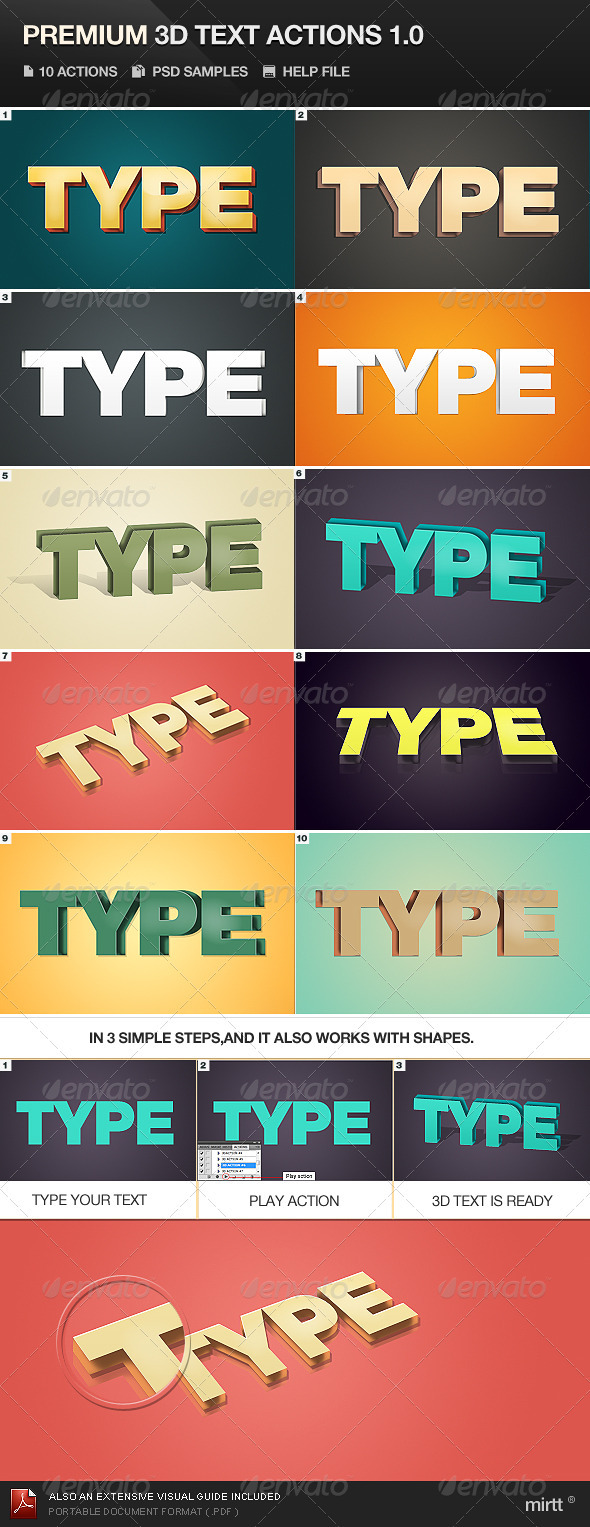 GraphicRiver Premium 3D Text Actions 562311