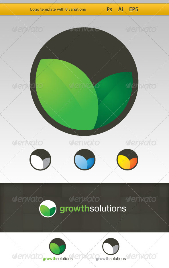 GrowthSolutions Eco Logo Template - Nature Logo Templates