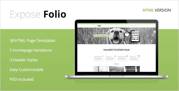ThemeForest Expose Folio Multipurpose HTML Template 5477698