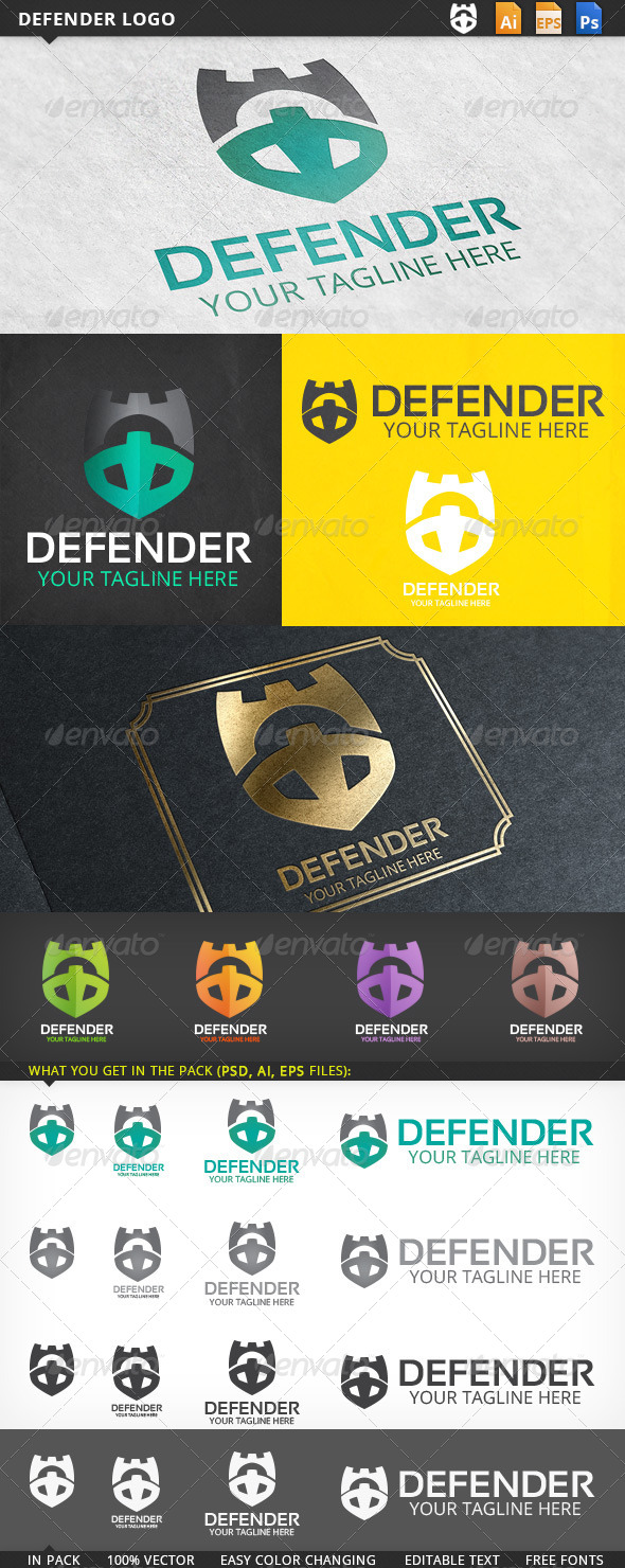 GraphicRiver Defender Logo 5477804