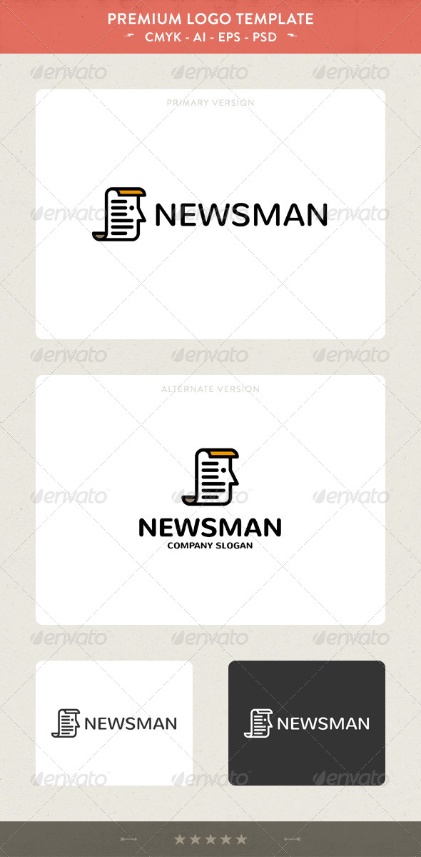 News Man Logo Template