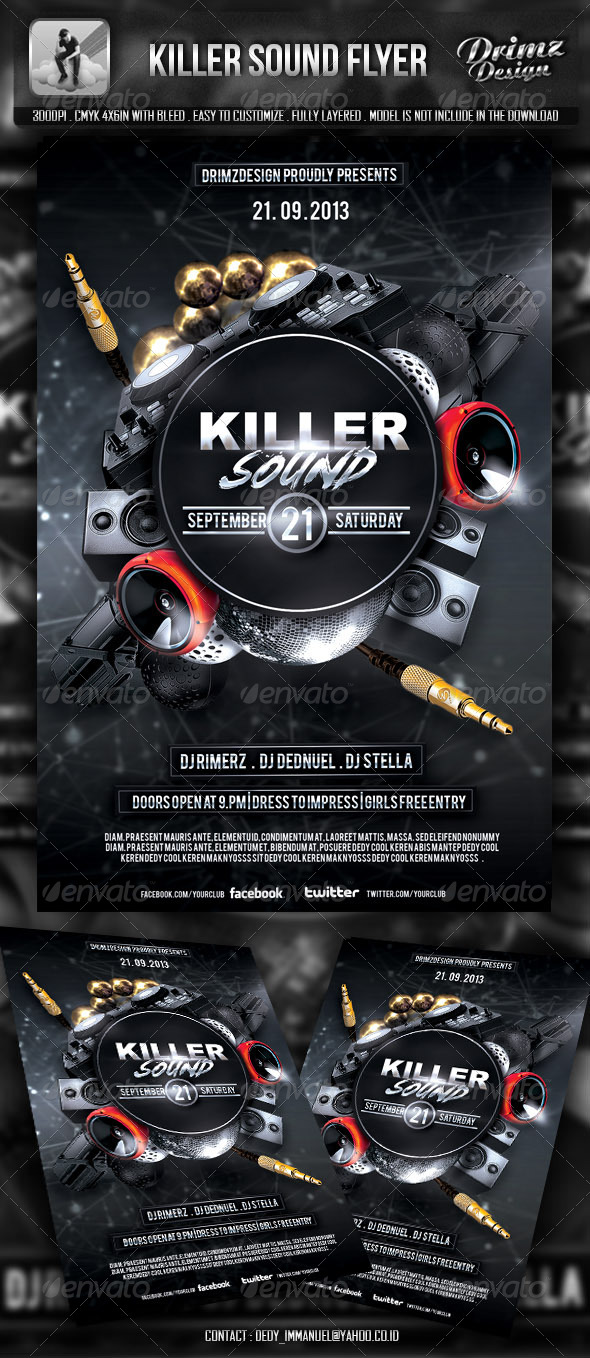 GraphicRiver Killer Sound Flyer 5477870