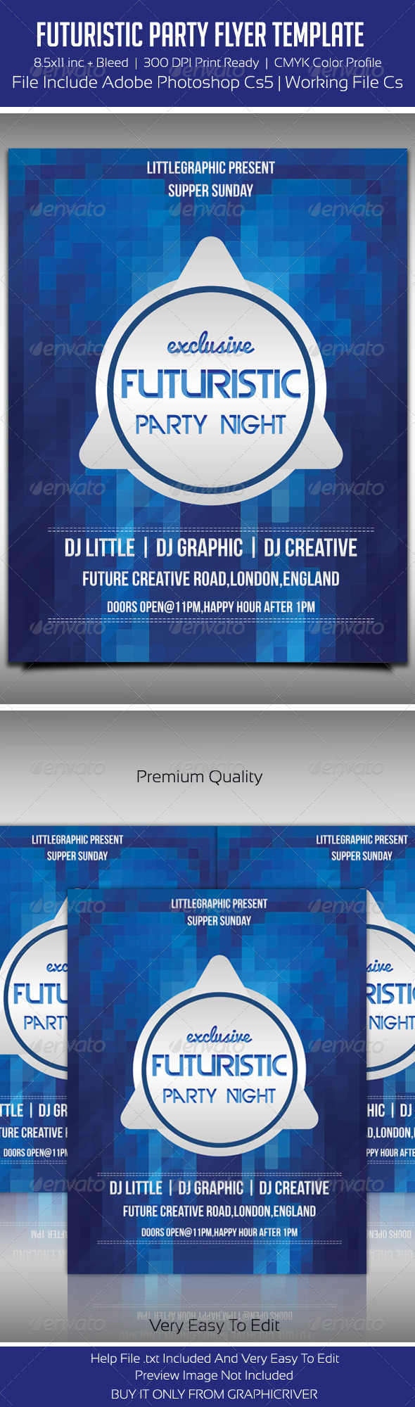 GraphicRiver Future Flyer Template 3 5462580