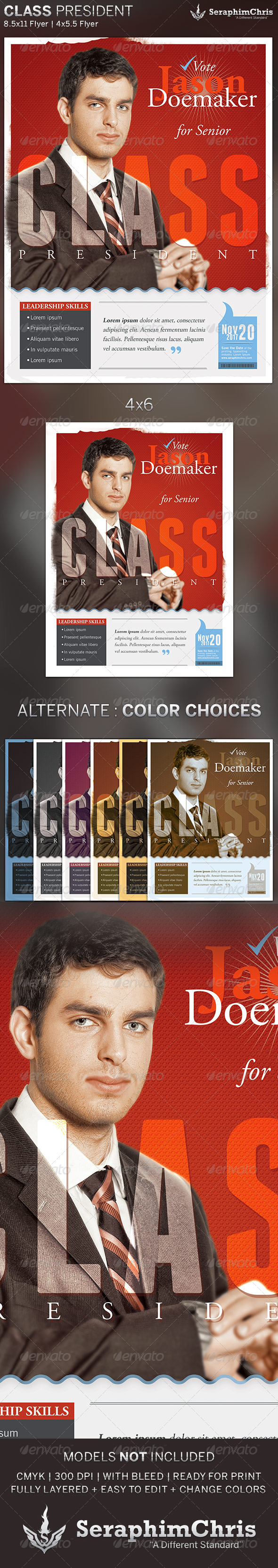 GraphicRiver Class President School Flyer Template 5478024