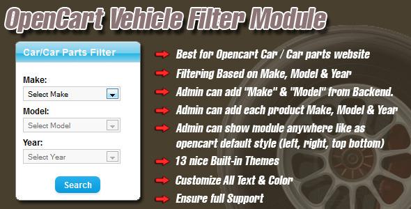 CodeCanyon opencart vehicle filter module 5478376