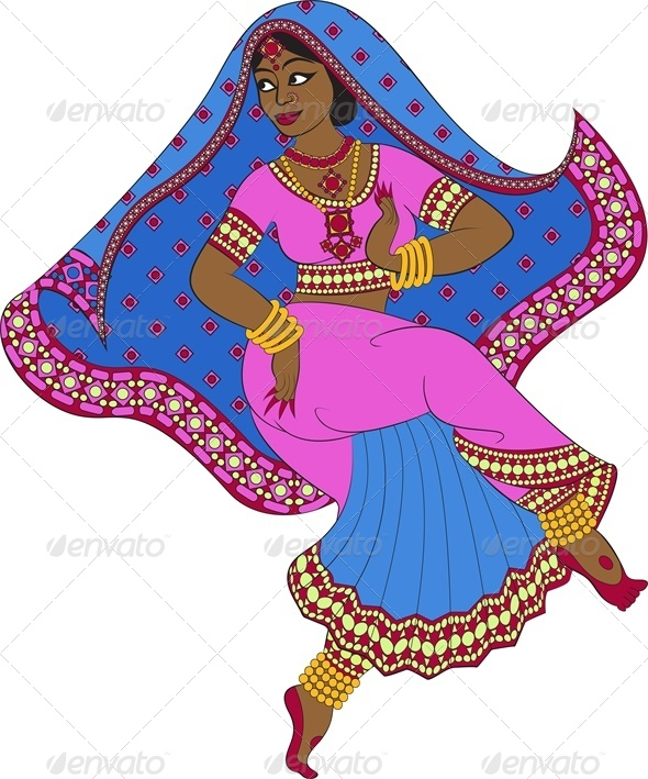GraphicRiver Indian Woman Dancer 5478601