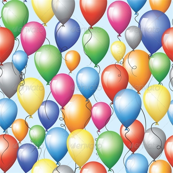 GraphicRiver Colorful Balloons Flying in Sky 5478663