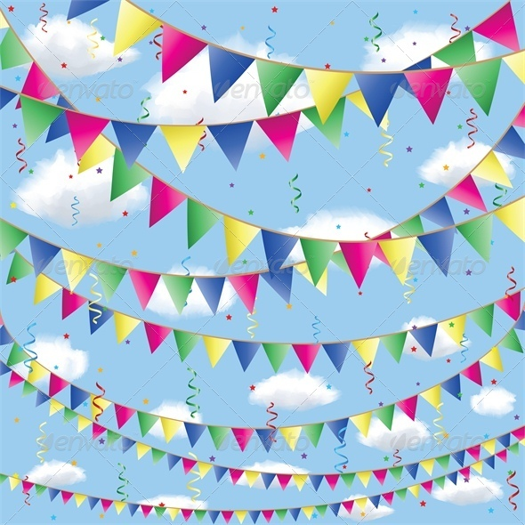 GraphicRiver Bunting Flag Decorations 5478667