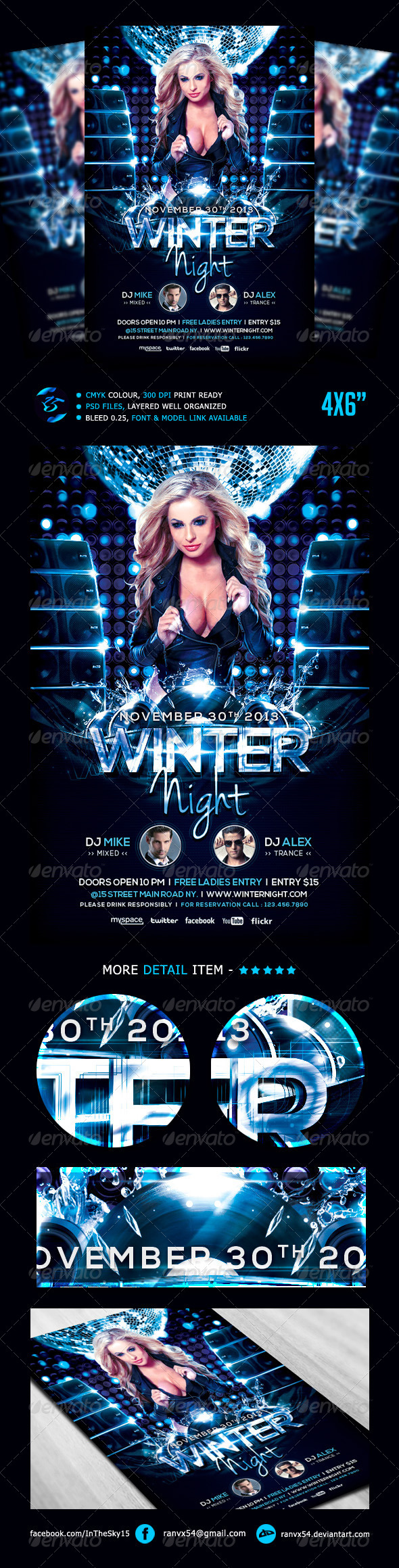 GraphicRiver Winter Night Flyer Template 5478697