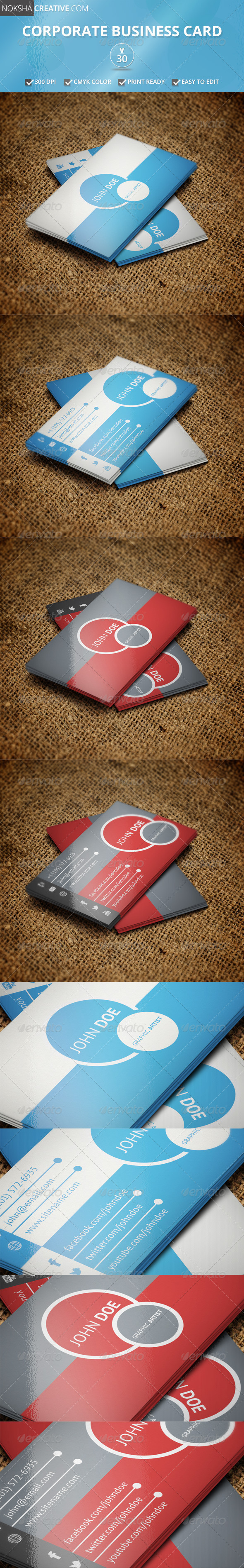 GraphicRiver Corporate Business Card V 30 5462133