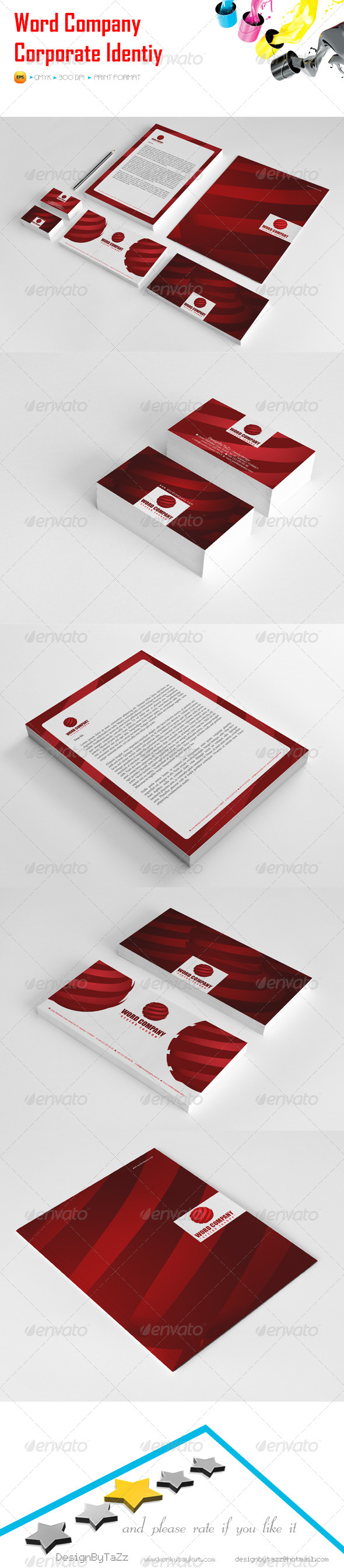 GraphicRiver Word Company Corporate Identity Package 5479117