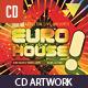 Euro House Dubstep Music CD Artwork Template