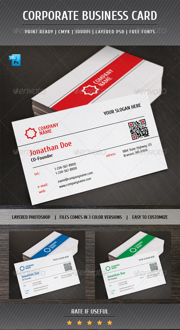 GraphicRiver Corporate Business Card 5442842