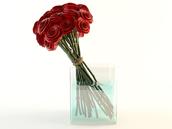 Red Roses Bouquet - 3DOcean Item for Sale