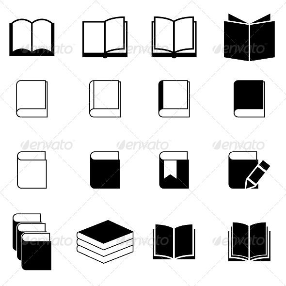 GraphicRiver Book Icon Set 5479878
