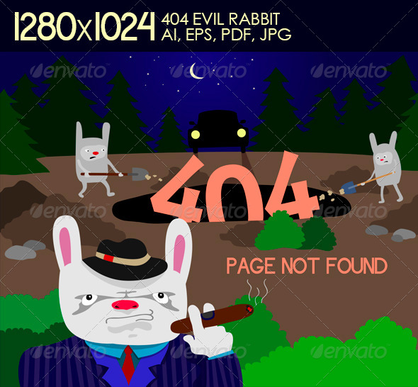 GraphicRiver 404 Evil Rabbit 5479903