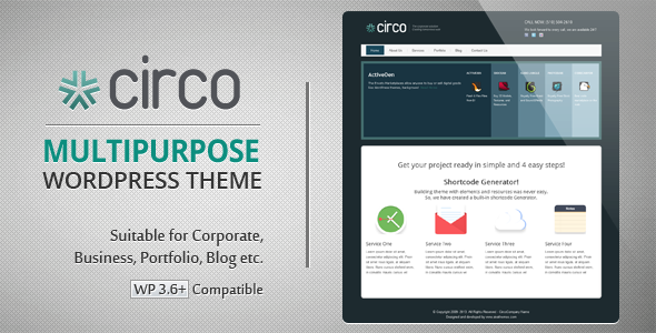 Circo Business + Blog + Portfolio Wordpress Theme