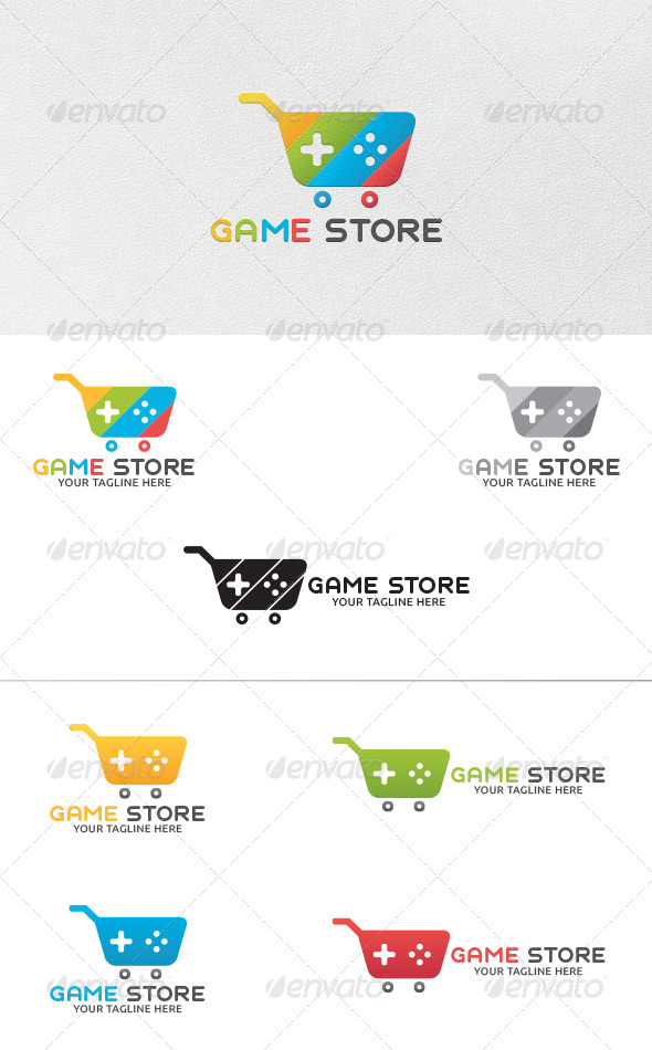GraphicRiver Game Store Logo Template 5480437