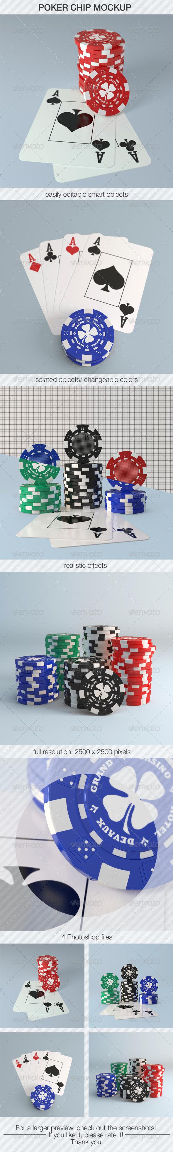 GraphicRiver Poker Chip Mockup 5480460