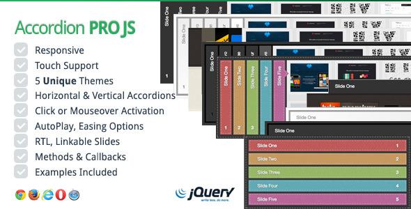 CodeCanyon Accordion Pro JS Responsive jQuery Accordion 5480772