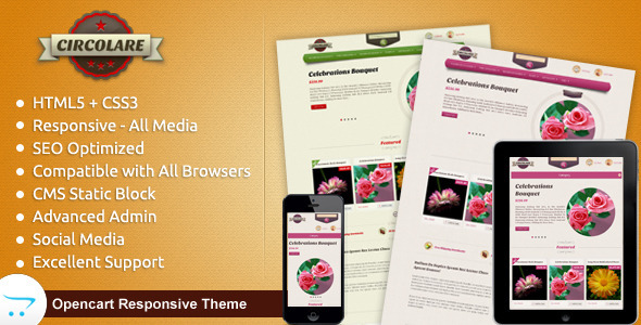 ThemeForest Circolare Opencart Responsive Theme 5480885