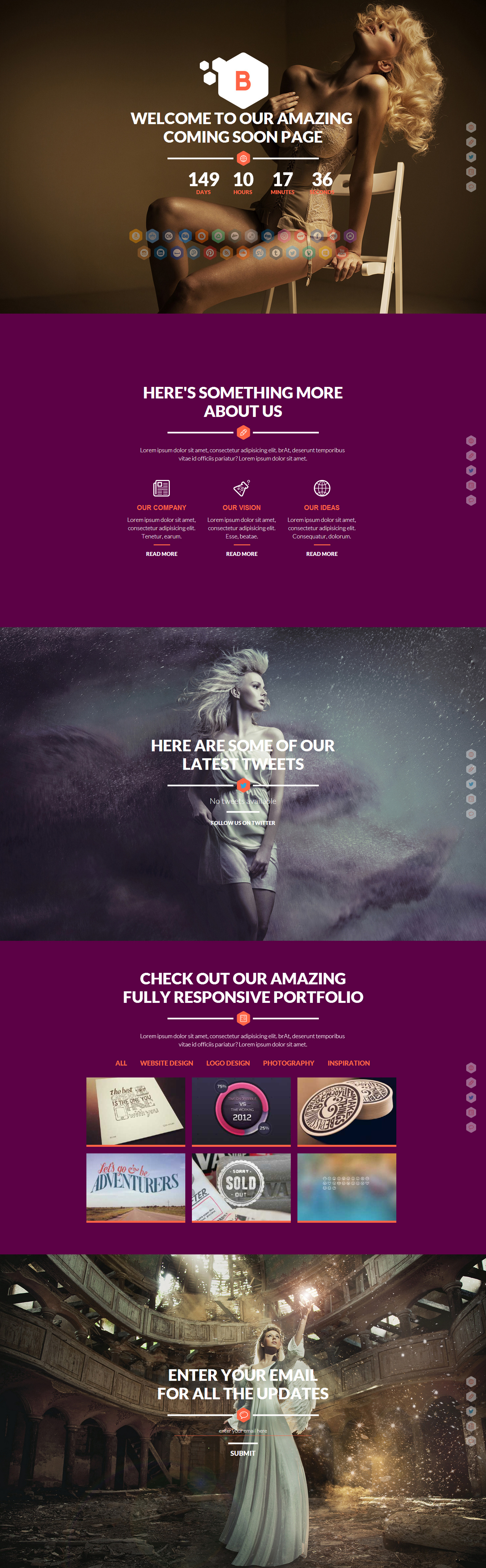 Blurred - Responsive Under Construction Template