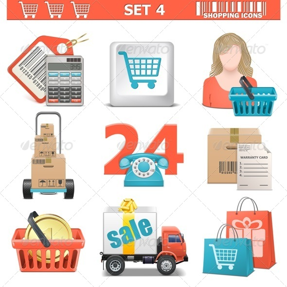 GraphicRiver Vector Shopping Icons Set 5481221