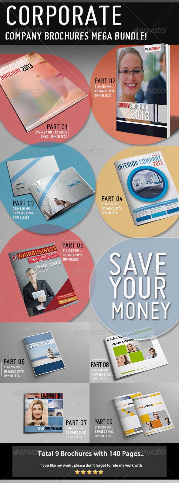 GraphicRiver Mega Company Brochure Bundle 5481369