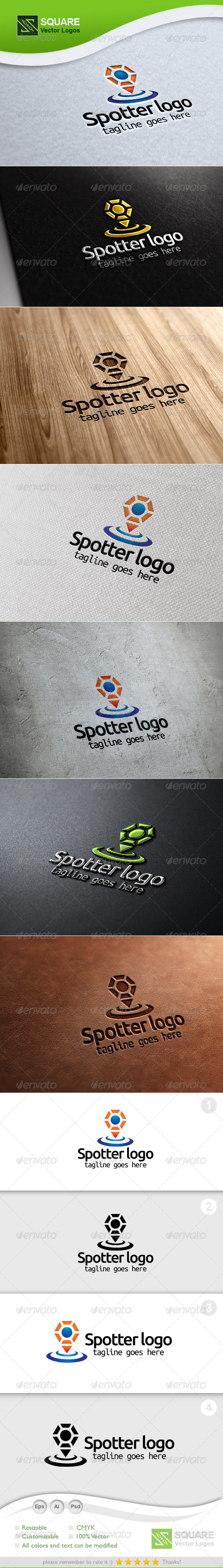 People Locator Vector Logo Template