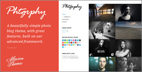 Phtgrphy - Photography Driven WordPress Theme
