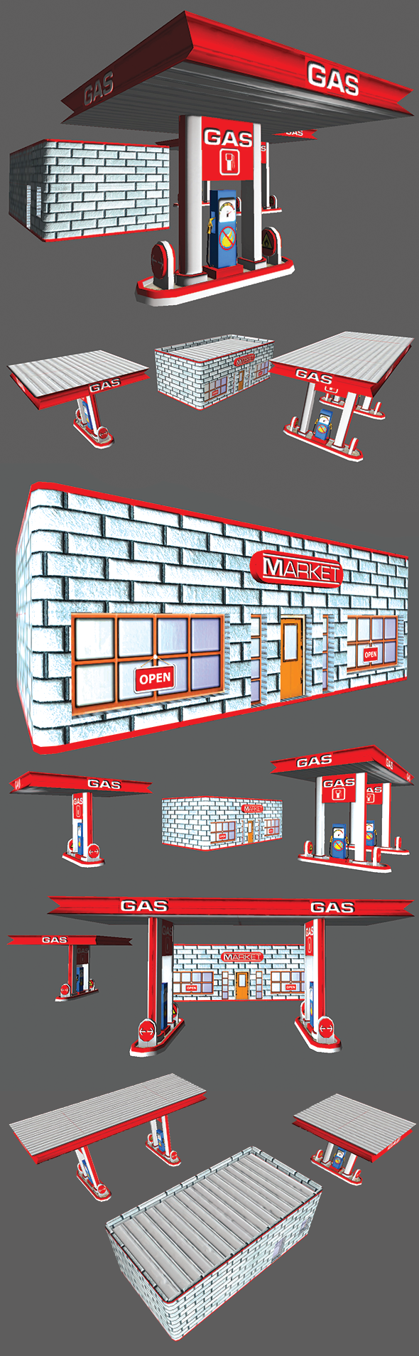3DOcean Gas Station 5482277