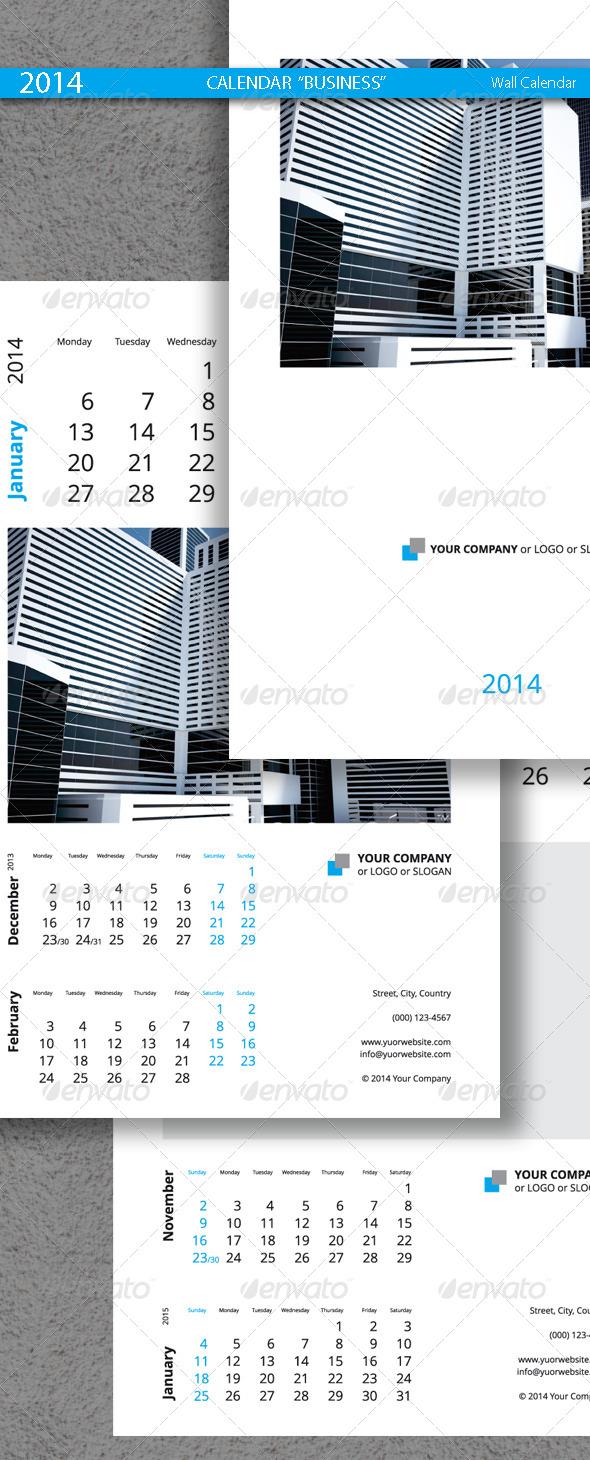 GraphicRiver Business Calendar Template 5482293