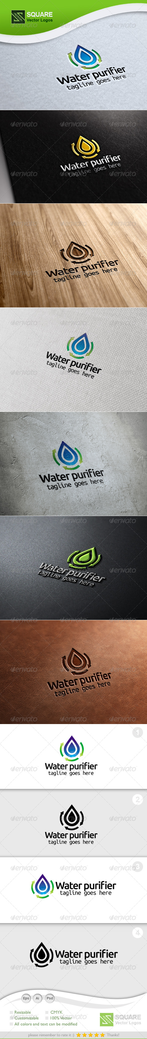 GraphicRiver Drop Recycle Vector Logo Template 5468668