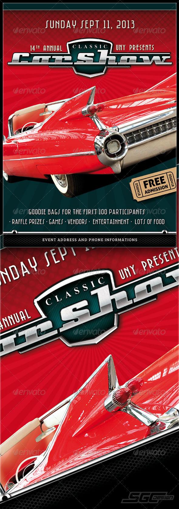 GraphicRiver Car Show Flyer 5482487