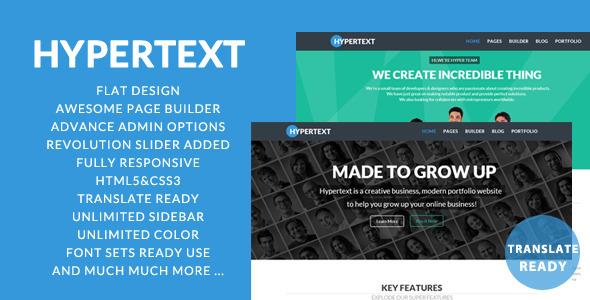 Hypertext - Flat Portfolio Wordpress Theme