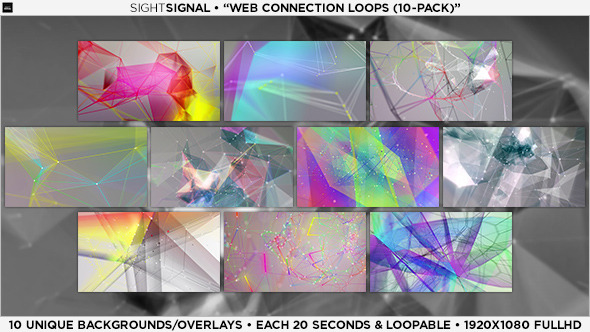 VideoHive Web Connection Loops 10-Pack 5482555