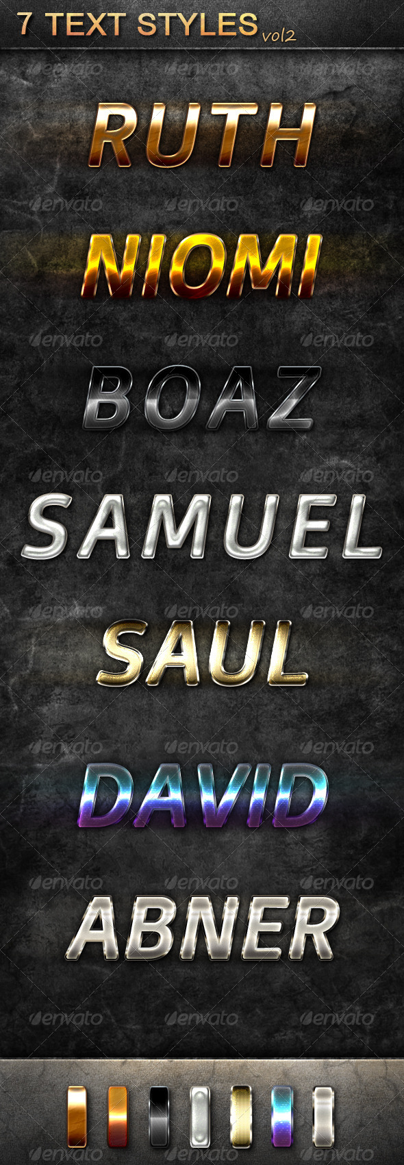 GraphicRiver 7 Text Styles Vol 2 5482649