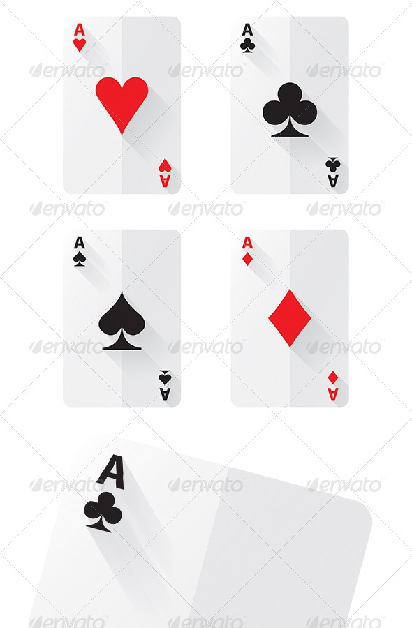 GraphicRiver Flat Ace Cards 5468409