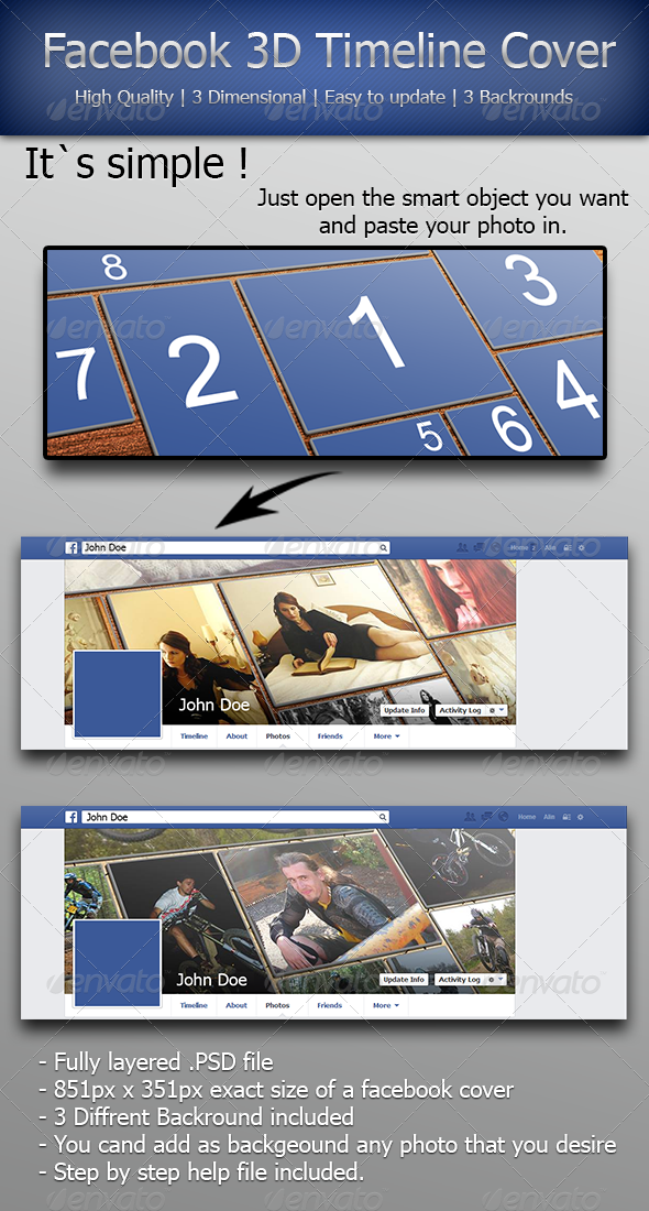 GraphicRiver Facebook 3D Timeline Cover 5482656