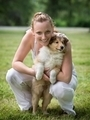 Young woman and puppy collie - PhotoDune Item for Sale