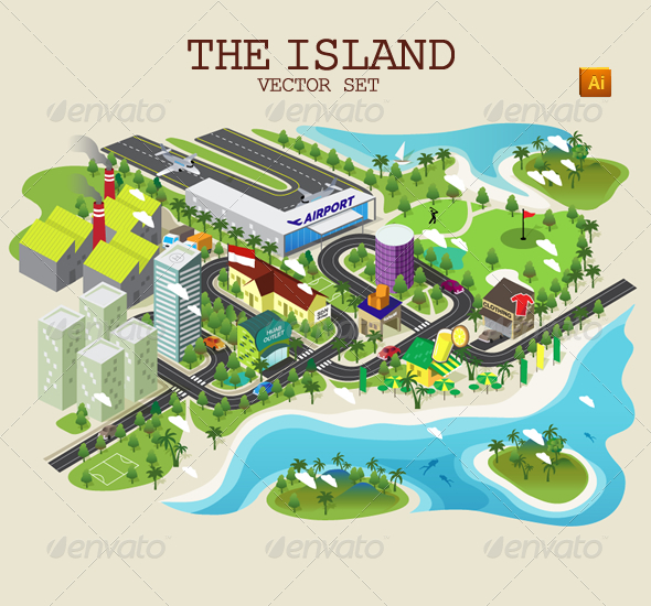 GraphicRiver The Island Vector Set 5471565