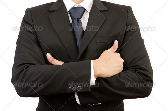 ?Businessman cross hand isolated. - Stock Photo - Images
