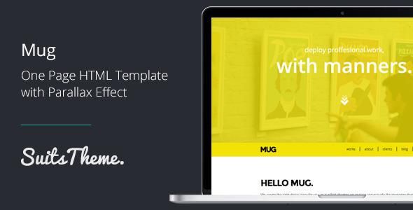 ThemeForest Mug One-Page Responsive Portfolio 5482820