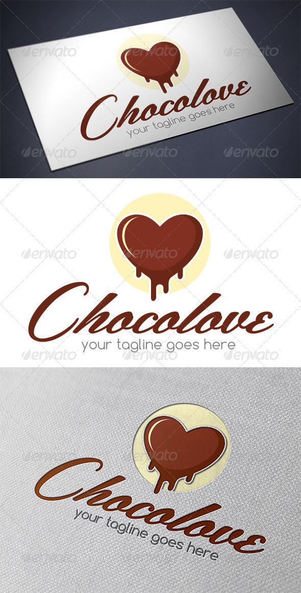 GraphicRiver Chocolate Love Logo Template 5482851