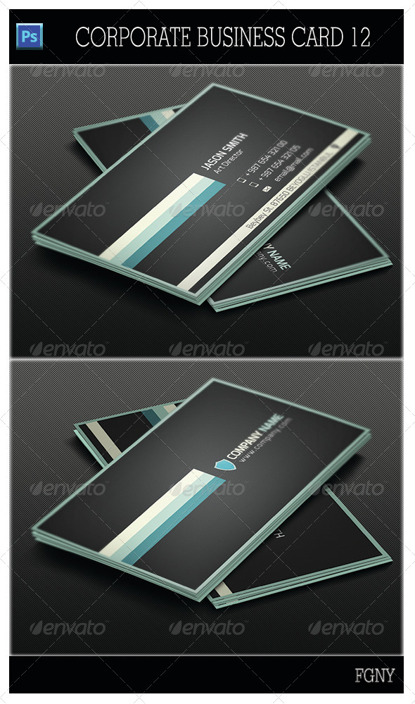 GraphicRiver Corporate Business Card 12 5461295
