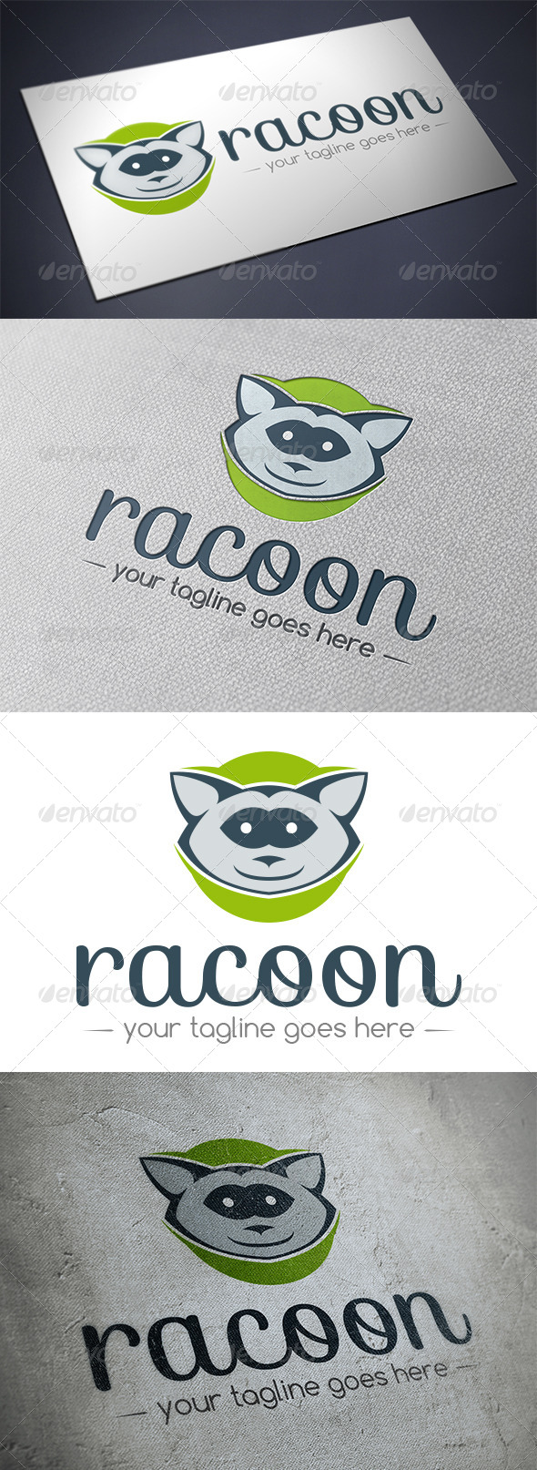 GraphicRiver Racoon Logo Template 5482901