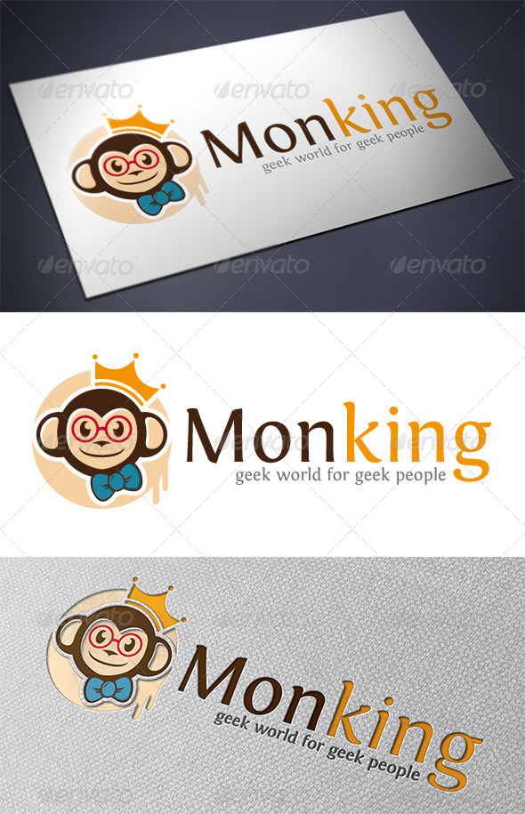 GraphicRiver Monkey Geek Logo 5482987